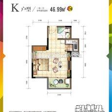 仙桃城市广场K户型户型图