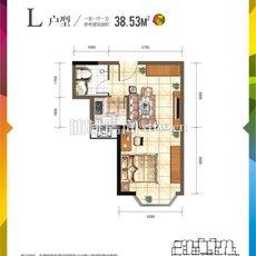 仙桃城市广场L户型户型图