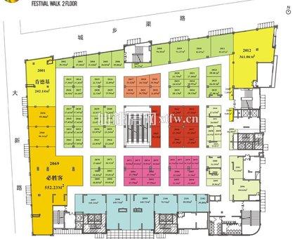 仙桃城市广场商业平层 2楼