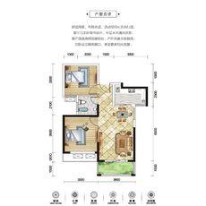 方鵬·航天城1#樓H2戶型圖