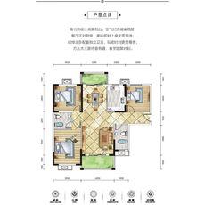 方鹏·航天城7#楼A1户型图