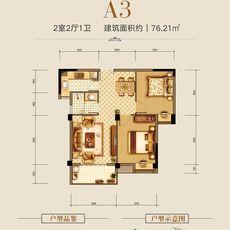 汉旺·世纪城28#A3户型户型图
