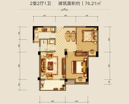 汉旺·世纪城28#A3户型