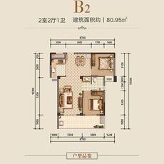 汉旺·世纪城B2户型户型图