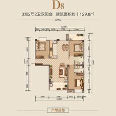 汉旺·世纪城D8户型户型图