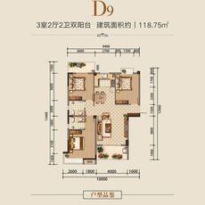 汉旺·世纪城D9户型户型图