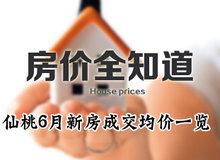 房价全知道 仙桃城区6月住宅成交均价一览