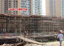 R公馆7月工程进度:12号楼已建至6层