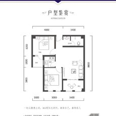 仁信·國際廣場3號樓B戶型圖