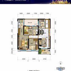 碧桂园·时代城Y297-7B户型图