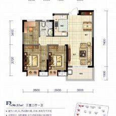 天門·卓爾生活城F3戶型戶型圖