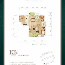 华耀·府东花园1/8#楼K3户型户型图