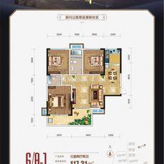 金一珅港6#楼A-1户型户型图