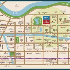 仙桃沔阳·学府园区位图