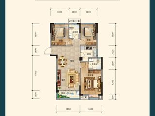 沔陽·學府園A2戶型圖