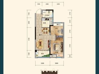 沔陽·學府園D2戶型圖