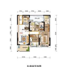碧桂園玖璽Y297B戶型105㎡戶型圖
