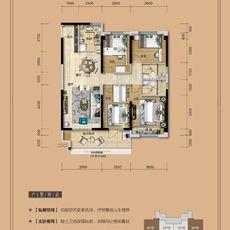 仙桃碧桂园A户型134.10户型图