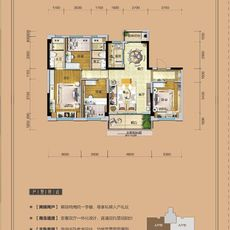 仙桃碧桂园A户型143.33户型图