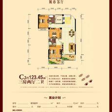 城市客厅二期C2户型图