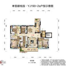 孝昌碧桂园·时代城YJ190-A户型户型图