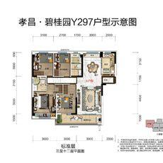 孝昌碧桂园·时代城YJ297-A户型户型图