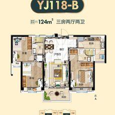 潜江碧桂园YJ118-B户型户型图