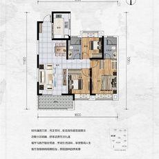 保利香颂1#楼107㎡户型户型图