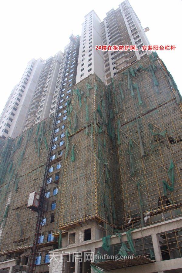 2#楼在拆除防护网和脚手架.jpg