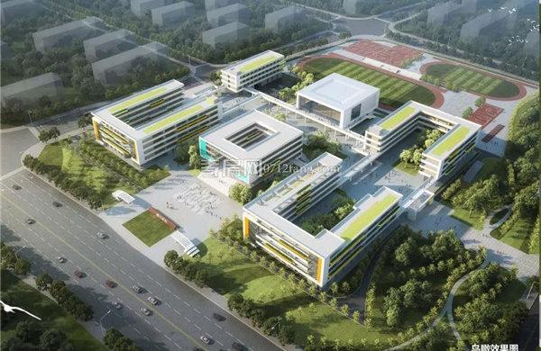 孝感东城区澴川学校教学楼主体建至第2层