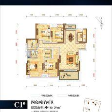 保丽公馆2#楼C1-1户型户型图