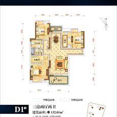 保丽公馆2#楼D1-1户型户型图