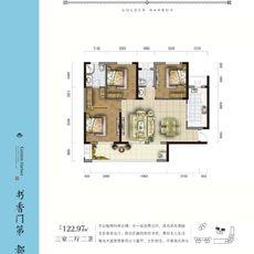金港尚城3#楼C1户型户型图