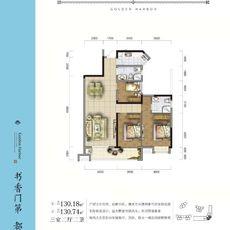 金港尚城4#楼D2户型户型图