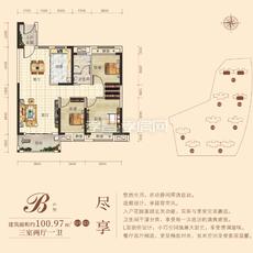 孟宗·凤凰城B户型—G1/G3户型图