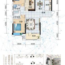 藍天新城A1-1 戶型圖