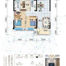 藍天新城B1-2戶型圖
