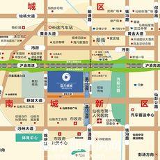 蓝天新城区位图