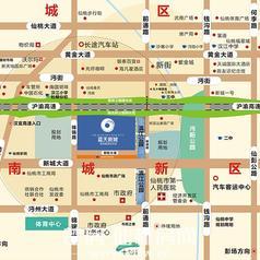 仙桃蓝天新城区位图