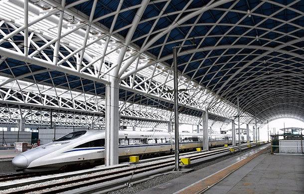 云梦东站新进展 目前主体结构工程已完工