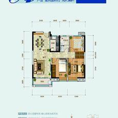 鴻昇現代城二期A戶型戶型圖