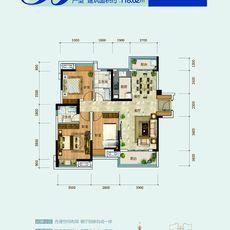 鴻昇現代城二期B戶型戶型圖