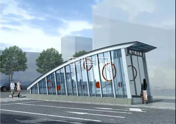 新合作城站路商业街效果图