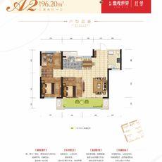 九燁·鼎觀世界三期紅堡2#樓A2戶型戶型圖