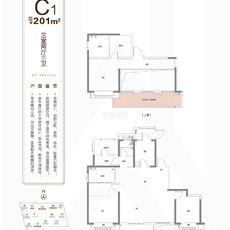 新城悦隽2/4/8#楼C1户型户型图