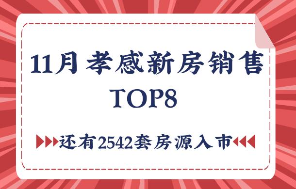 11月孝感新房销售TOP8 更有2542套房源入市