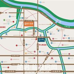 仙桃锦华首府区位图
