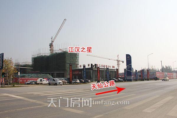 江汉之星12月工程进度:工地上正在火热施工中