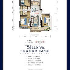 大悟碧桂园YJ115-9a-B户型户型图