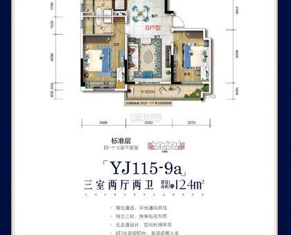 大悟碧桂园YJ115-9a-B户型